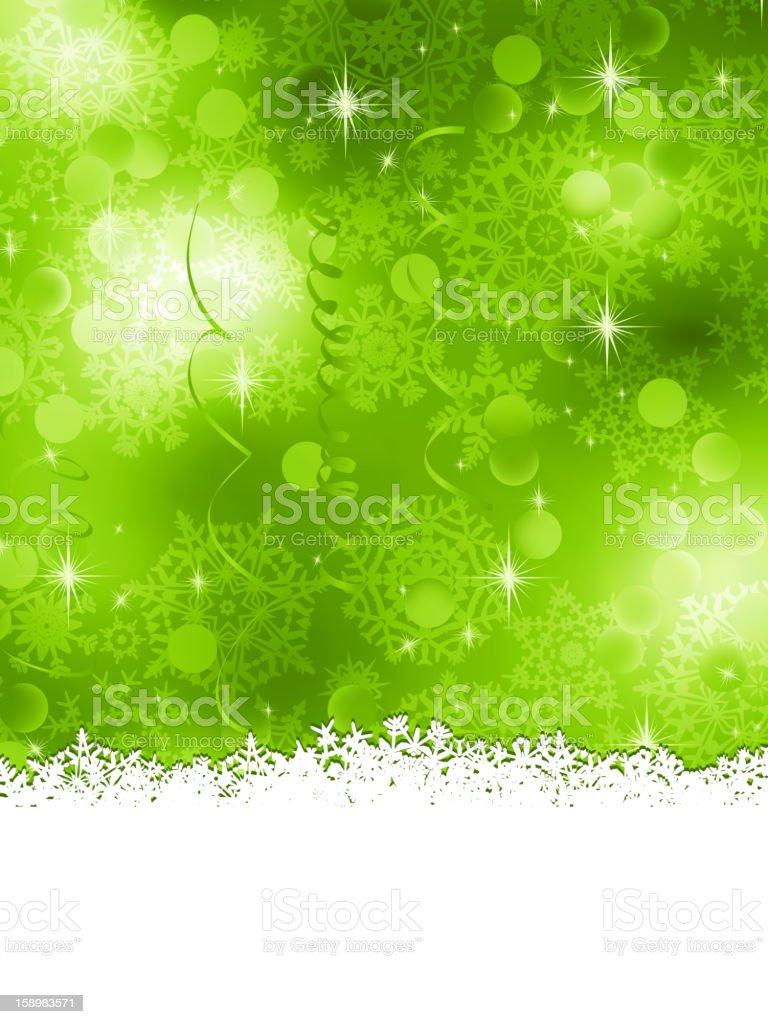 Green Christmas Background. EPS 8 royalty-free stock vector art