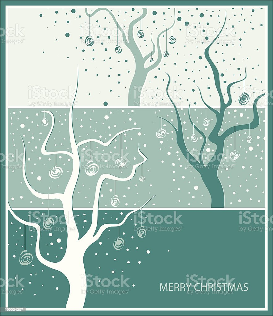 Green Christmas royalty-free stock vector art