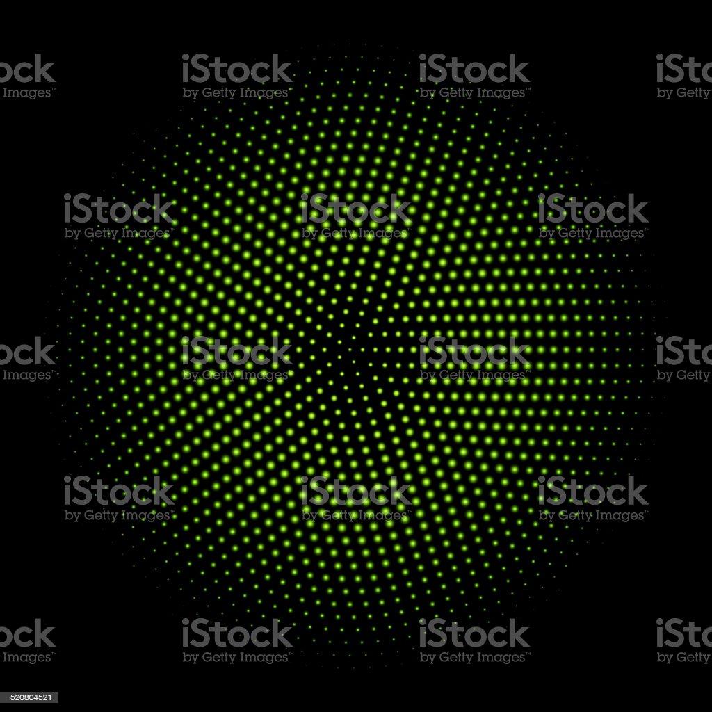 green circle of halftone. vector illustration. 10 eps vector art illustration