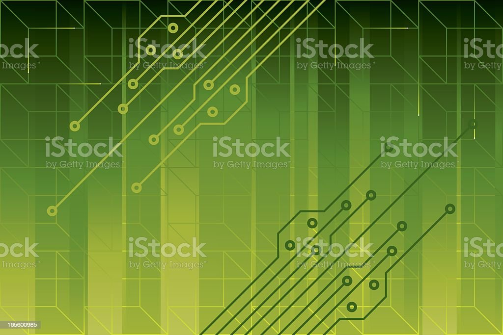 Green Circuit Background royalty-free stock vector art