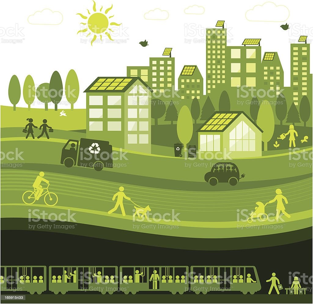 Green City royalty-free stock vector art