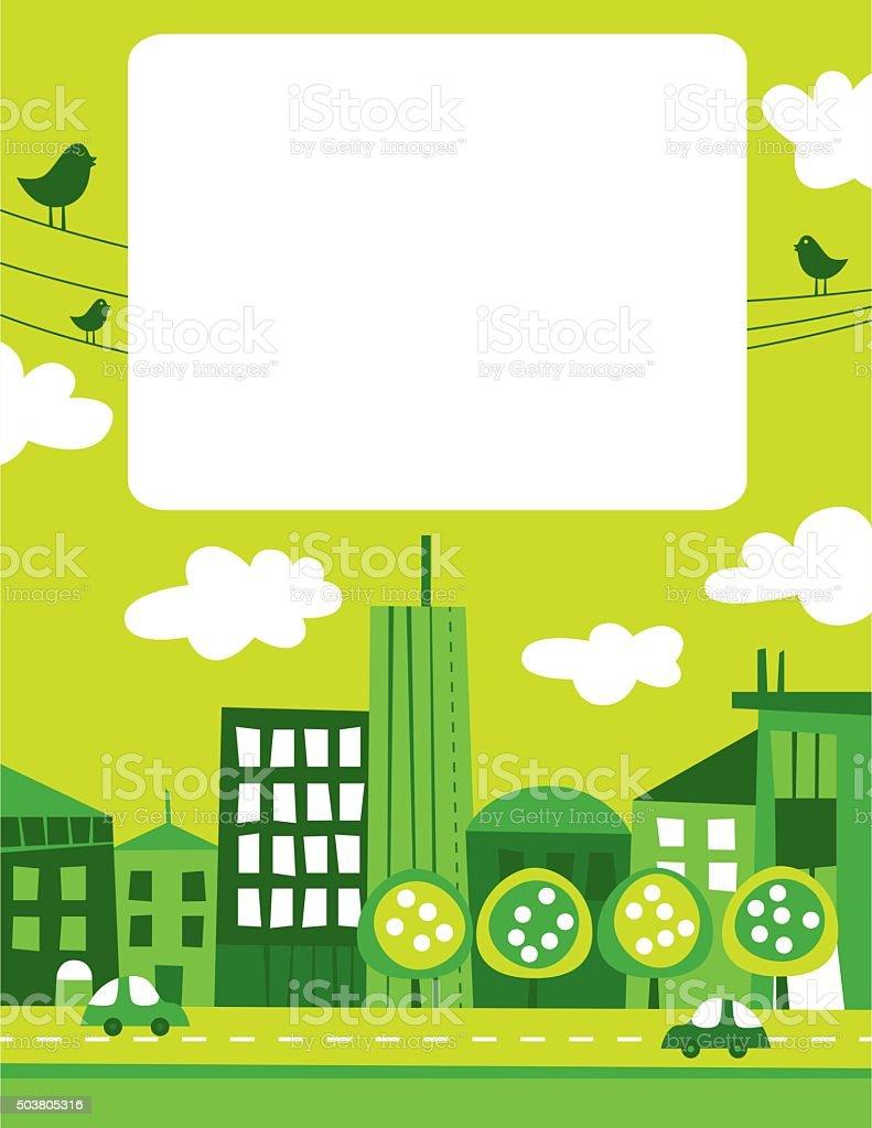 Green city vector art illustration