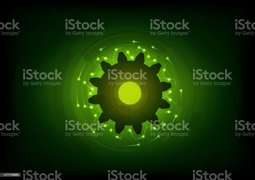 green cogwheel royalty-free stock vector art