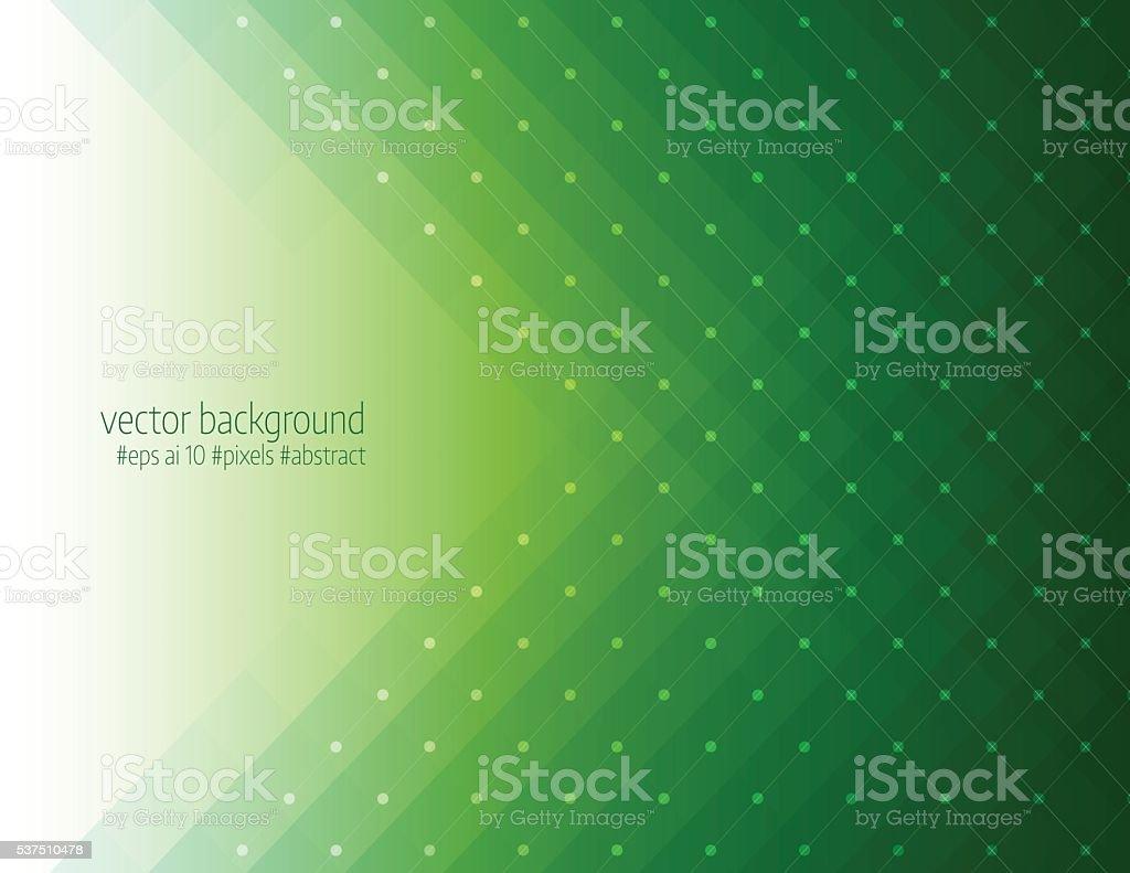 Green color pixels background vector art illustration