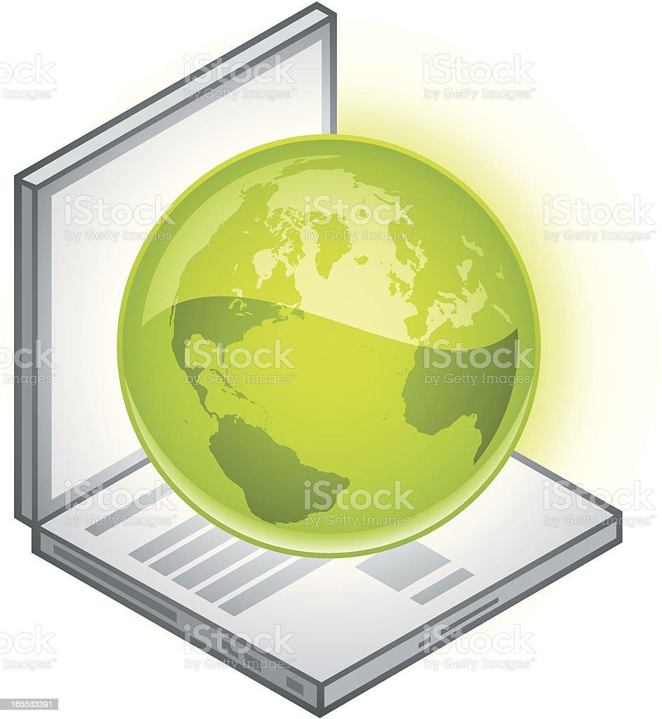 Green computing royalty-free stock vector art