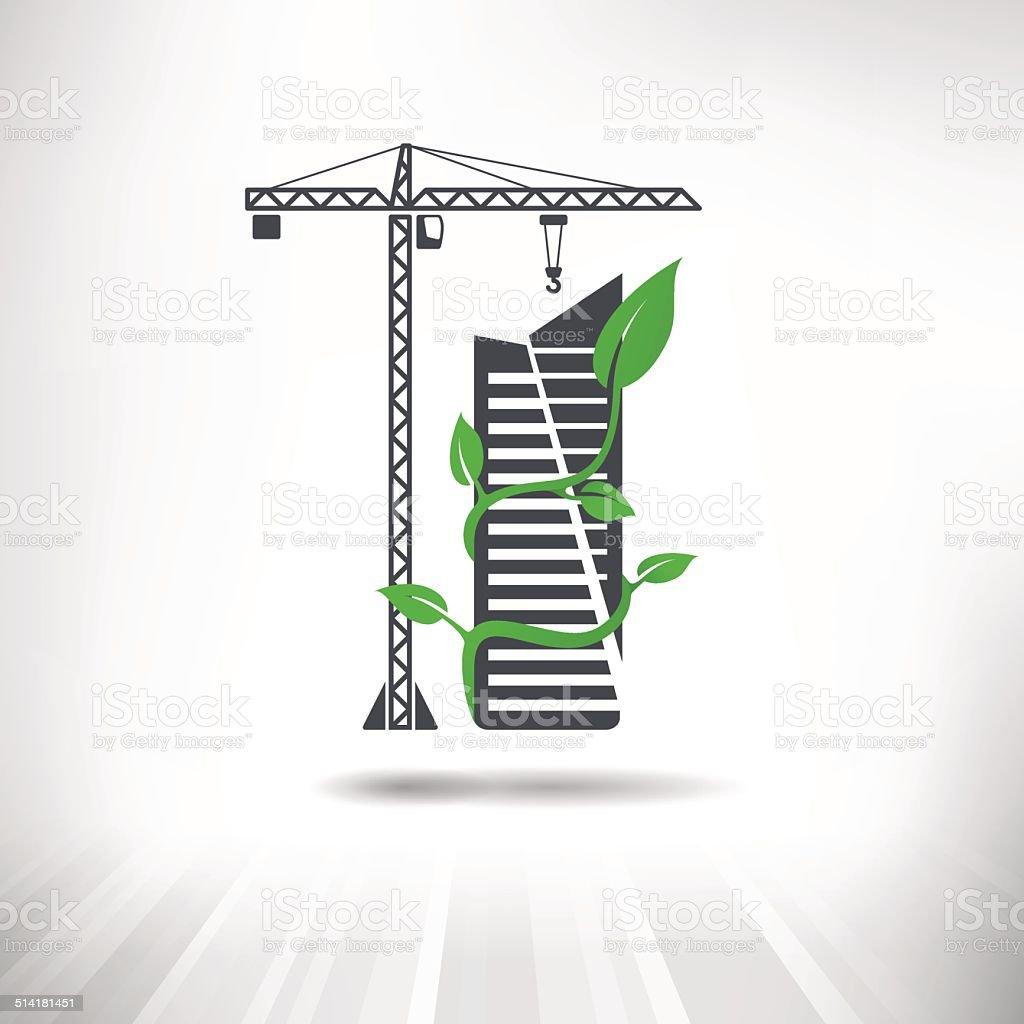 Green Construction Concept vector art illustration