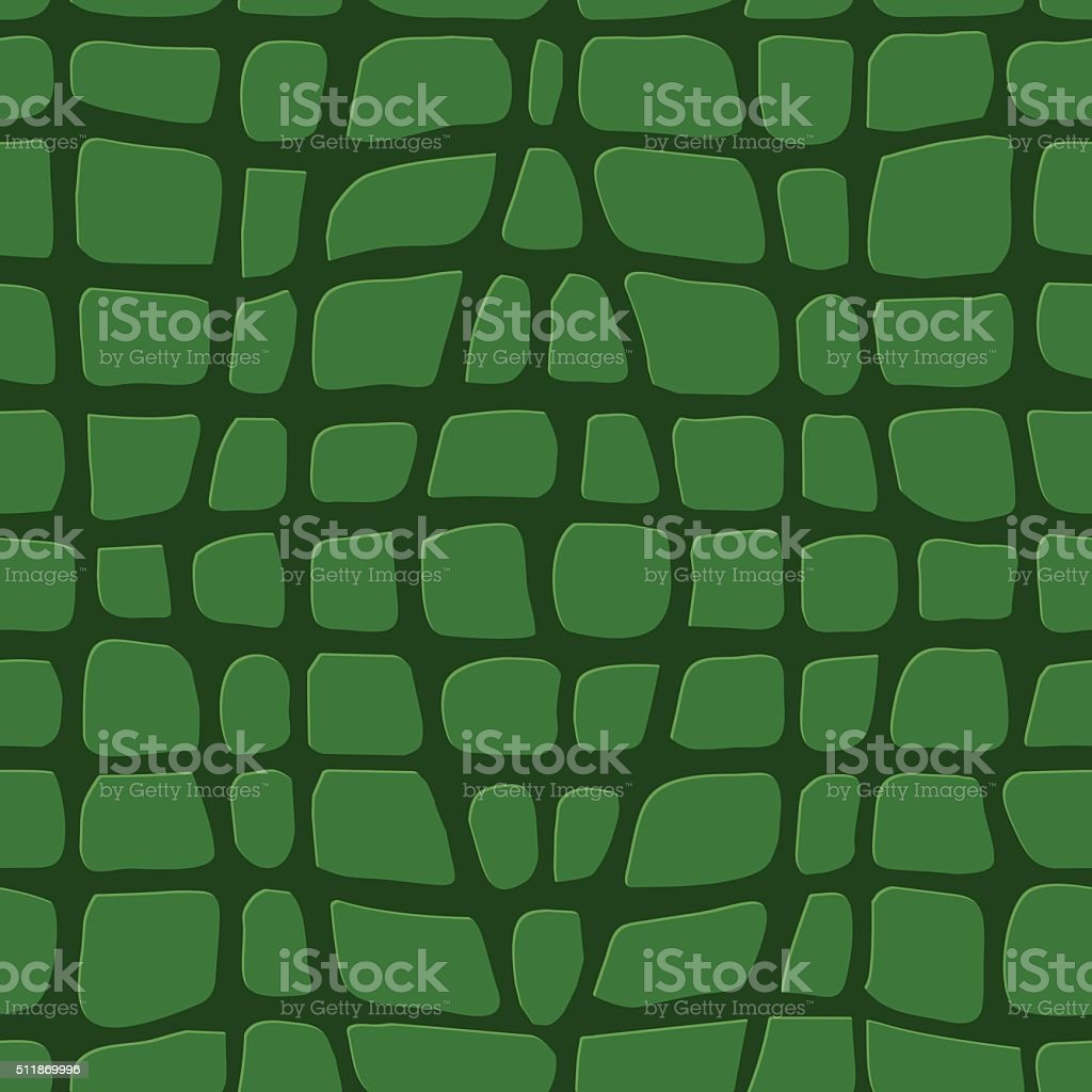 Green Crocodile Skin Seamless Pattern vector art illustration