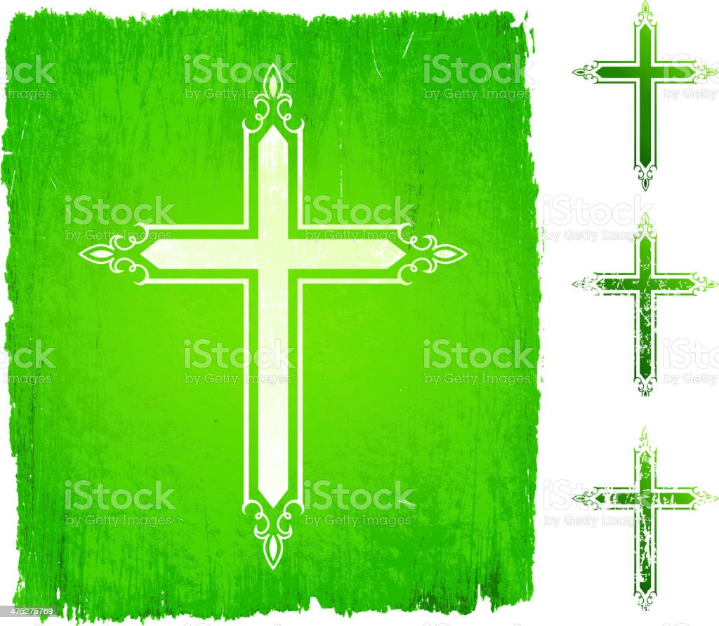 Green Cross Color Set royalty-free stock vector art