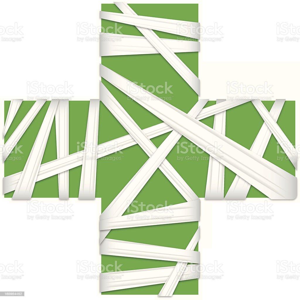Green cross royalty-free stock vector art