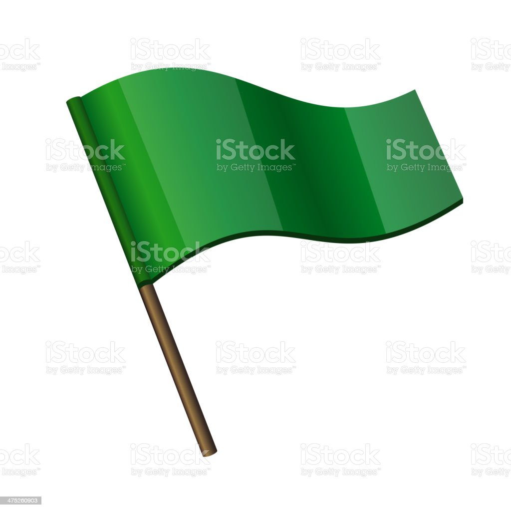 Green Curl Flag Icon royalty-free stock vector art
