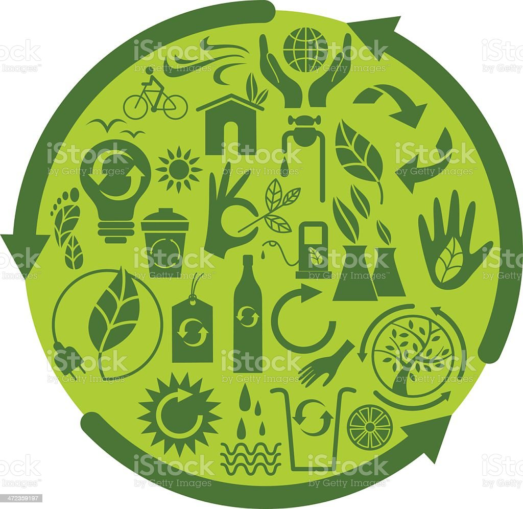 Green cycle royalty-free stock vector art