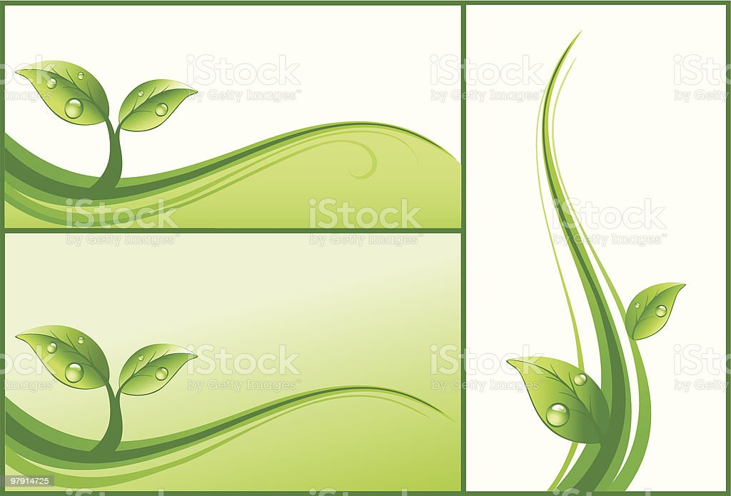 Green design elements royalty-free stock vector art