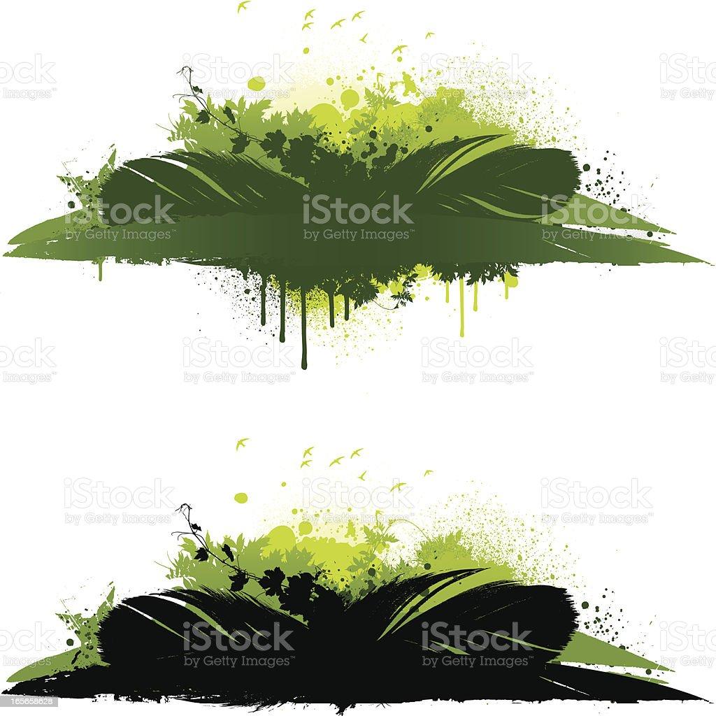 Green designs royalty-free stock vector art