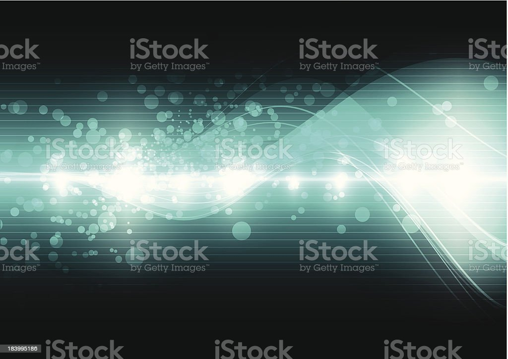 green digital wave background royalty-free stock vector art