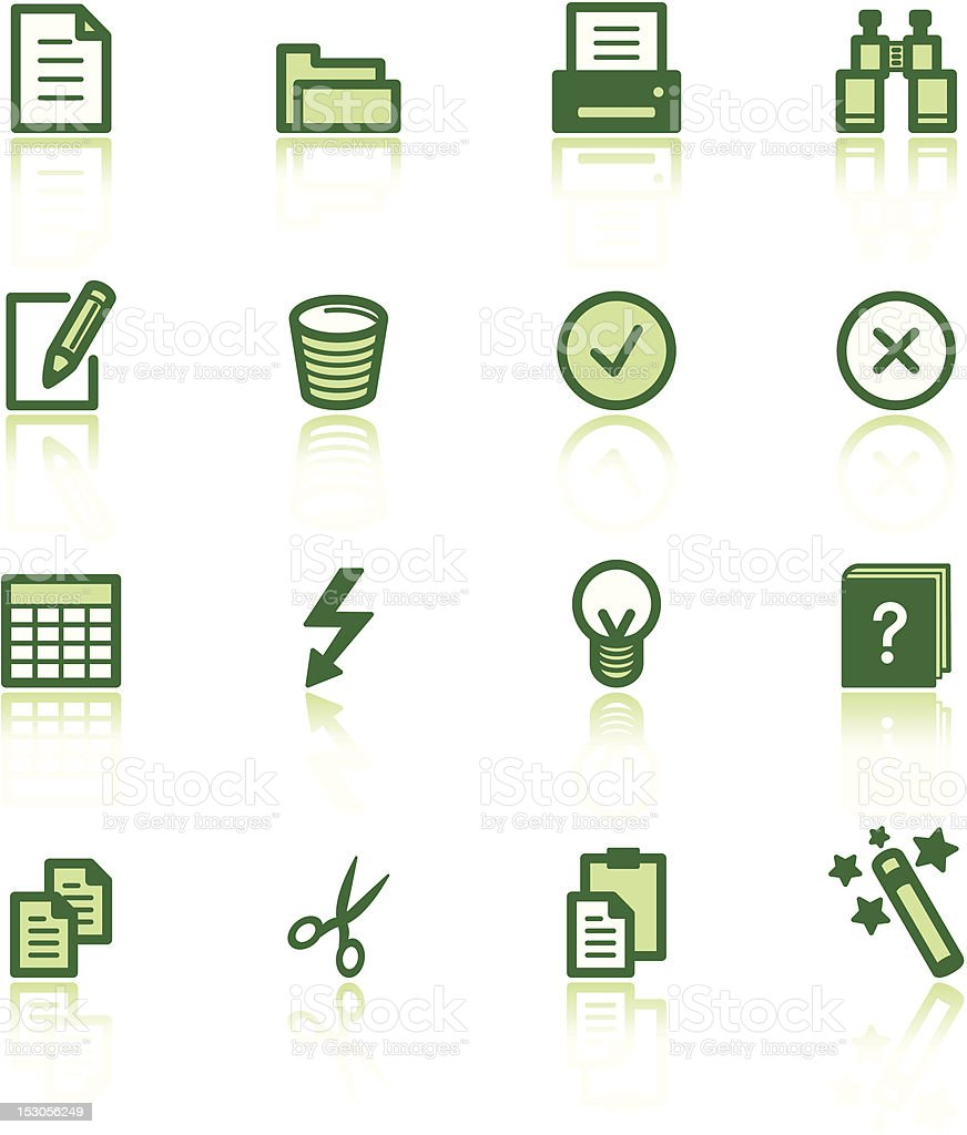 green document icons royalty-free stock vector art