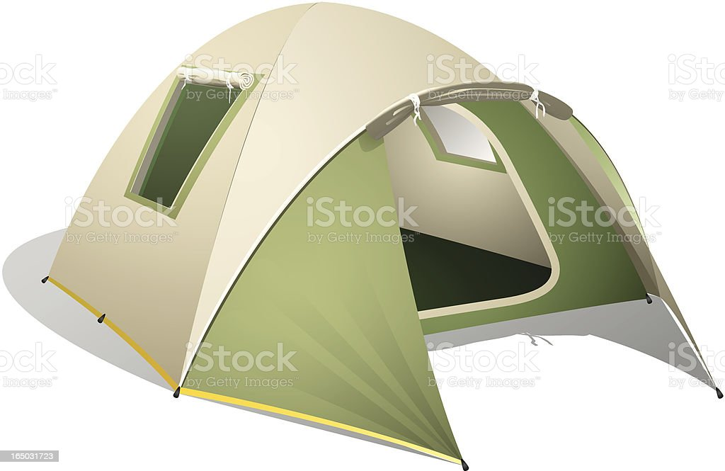 Green Dome Tent vector art illustration