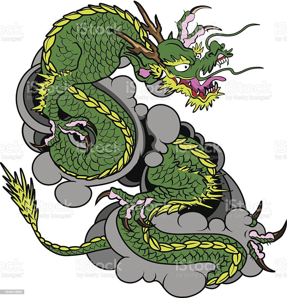 green dragon royalty-free stock vector art