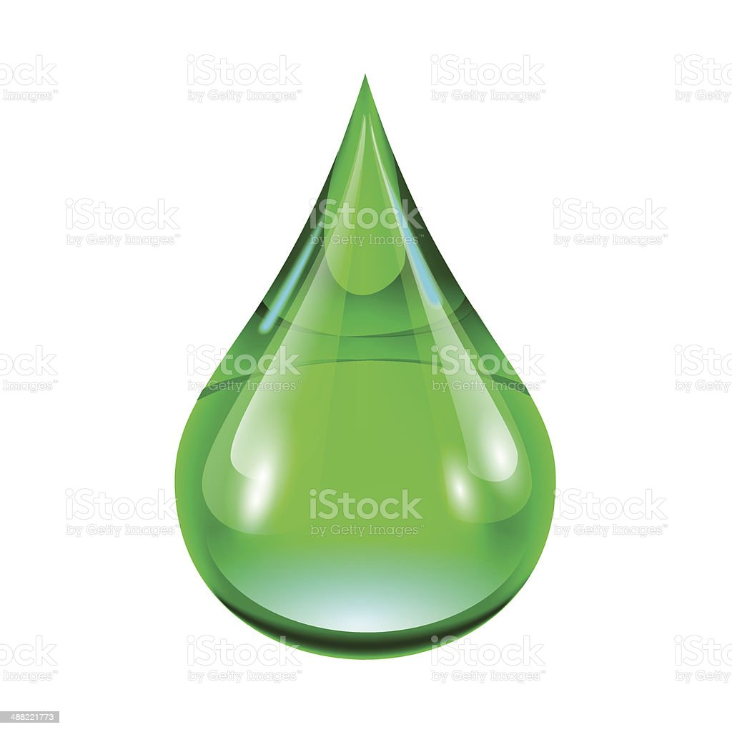 green drop royalty-free stock vector art