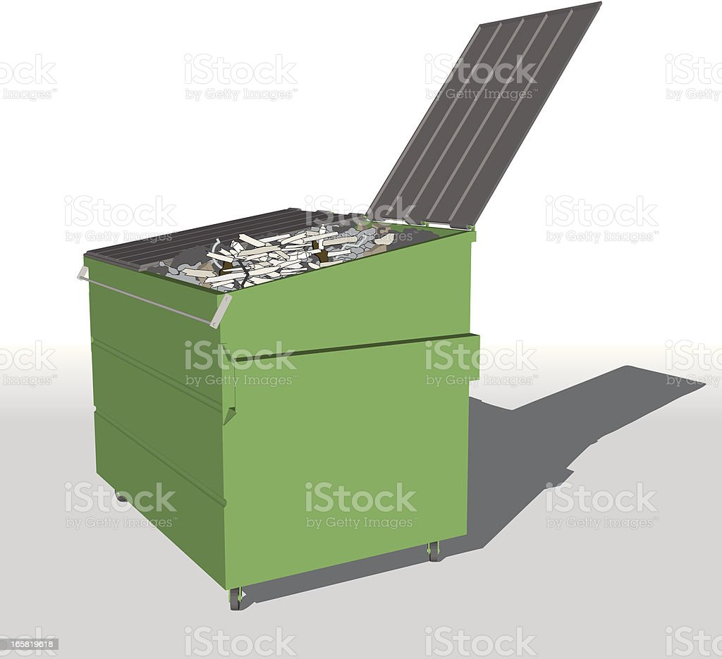 Green dumpster royalty-free stock vector art