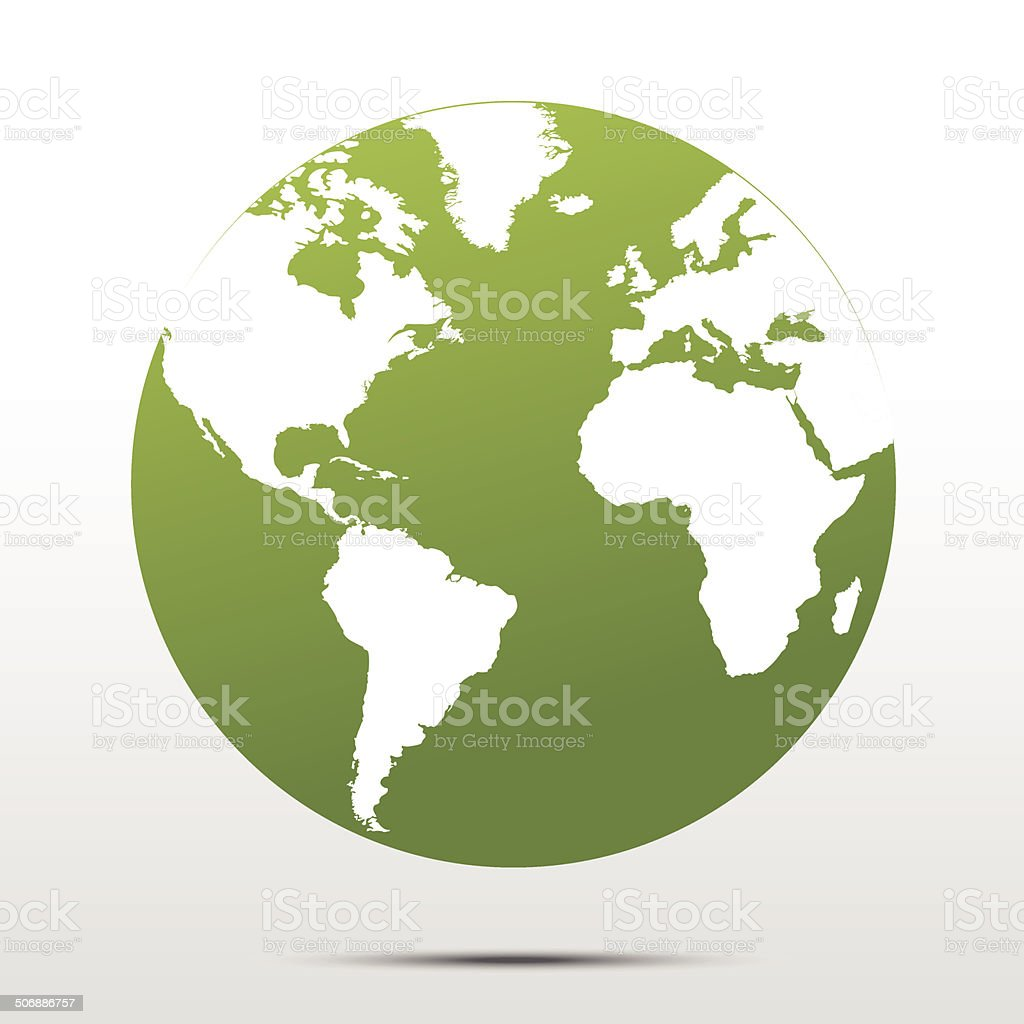 Green earth concept vector art illustration
