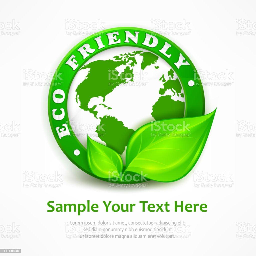 Green earth concept vector art illustration