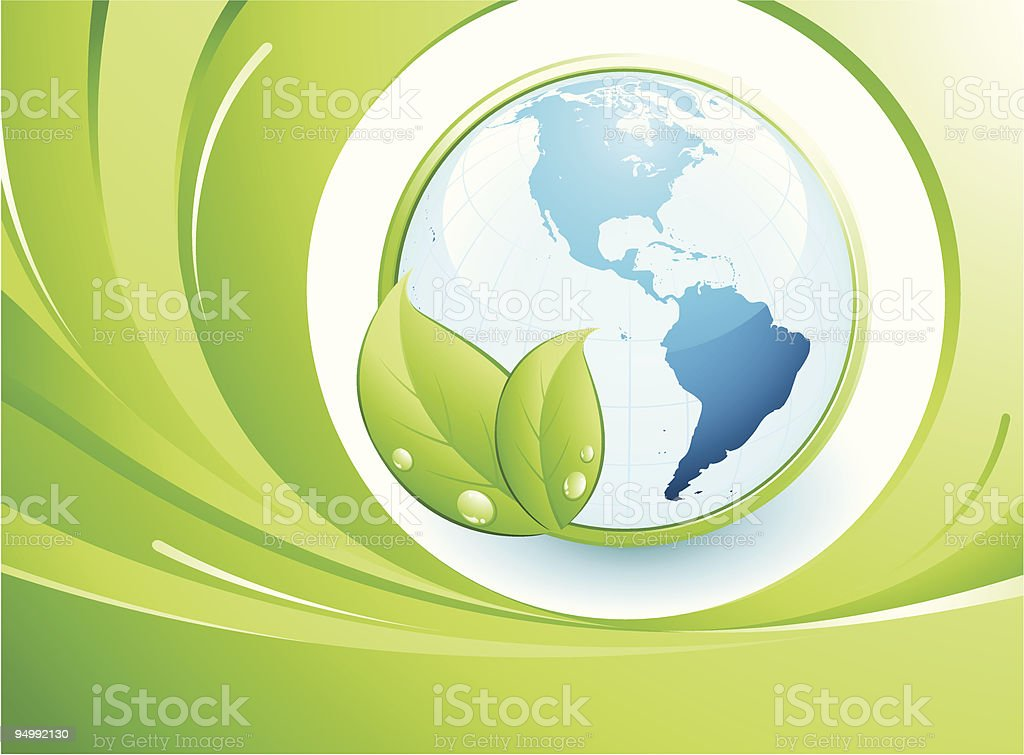 Green earth concept royalty-free stock vector art