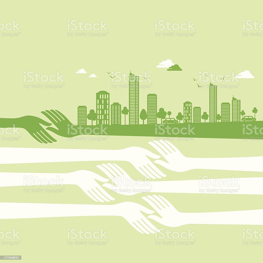 green earth- ecology concept royalty-free stock vector art