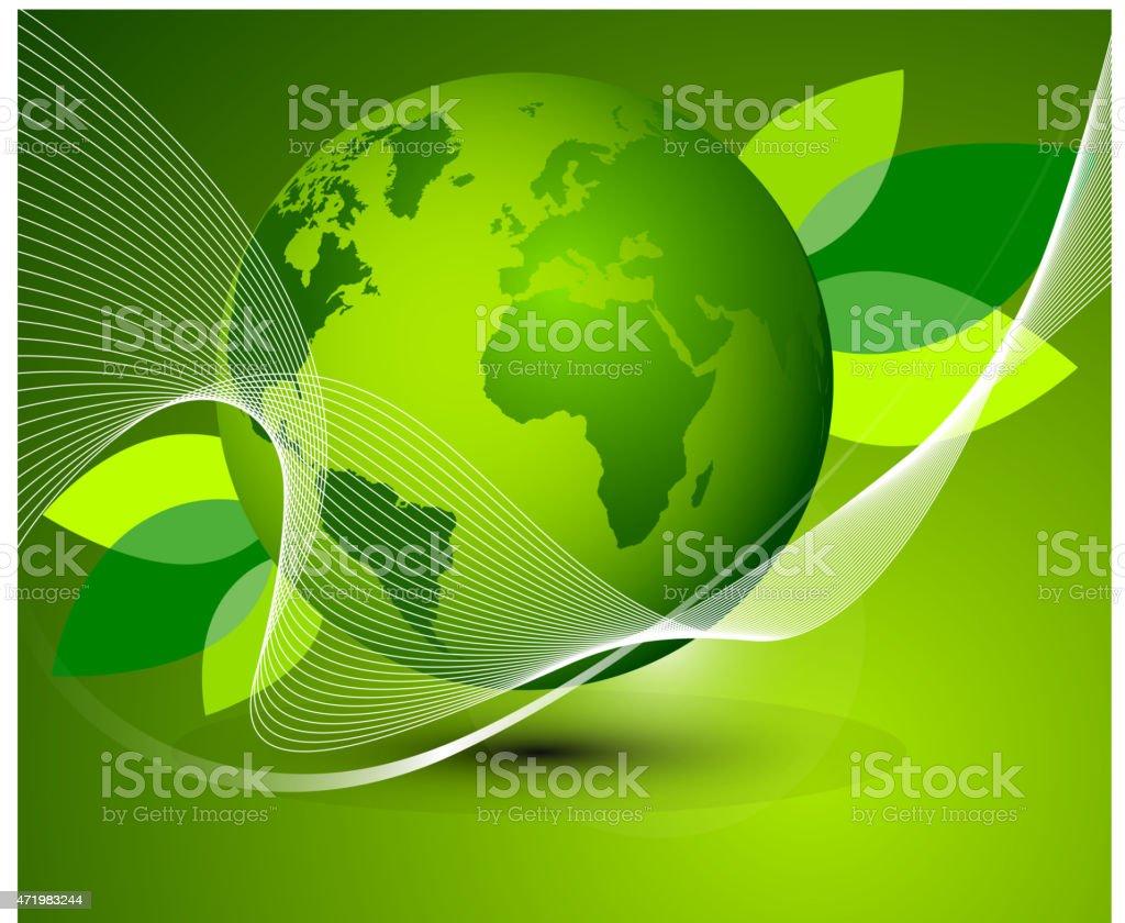 Fondo de globo de tierra de verde illustracion libre de derechos libre de derechos
