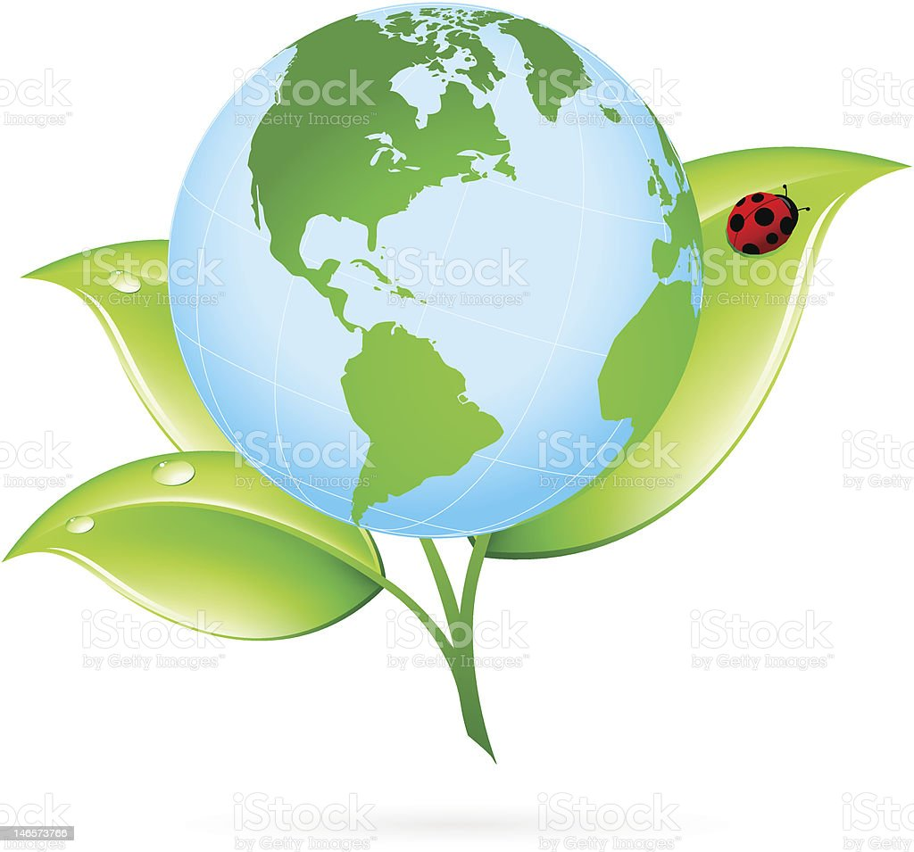 Green Earth Icon royalty-free stock vector art