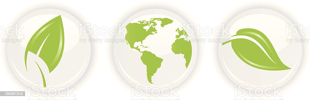 Green Earth on White royalty-free stock vector art