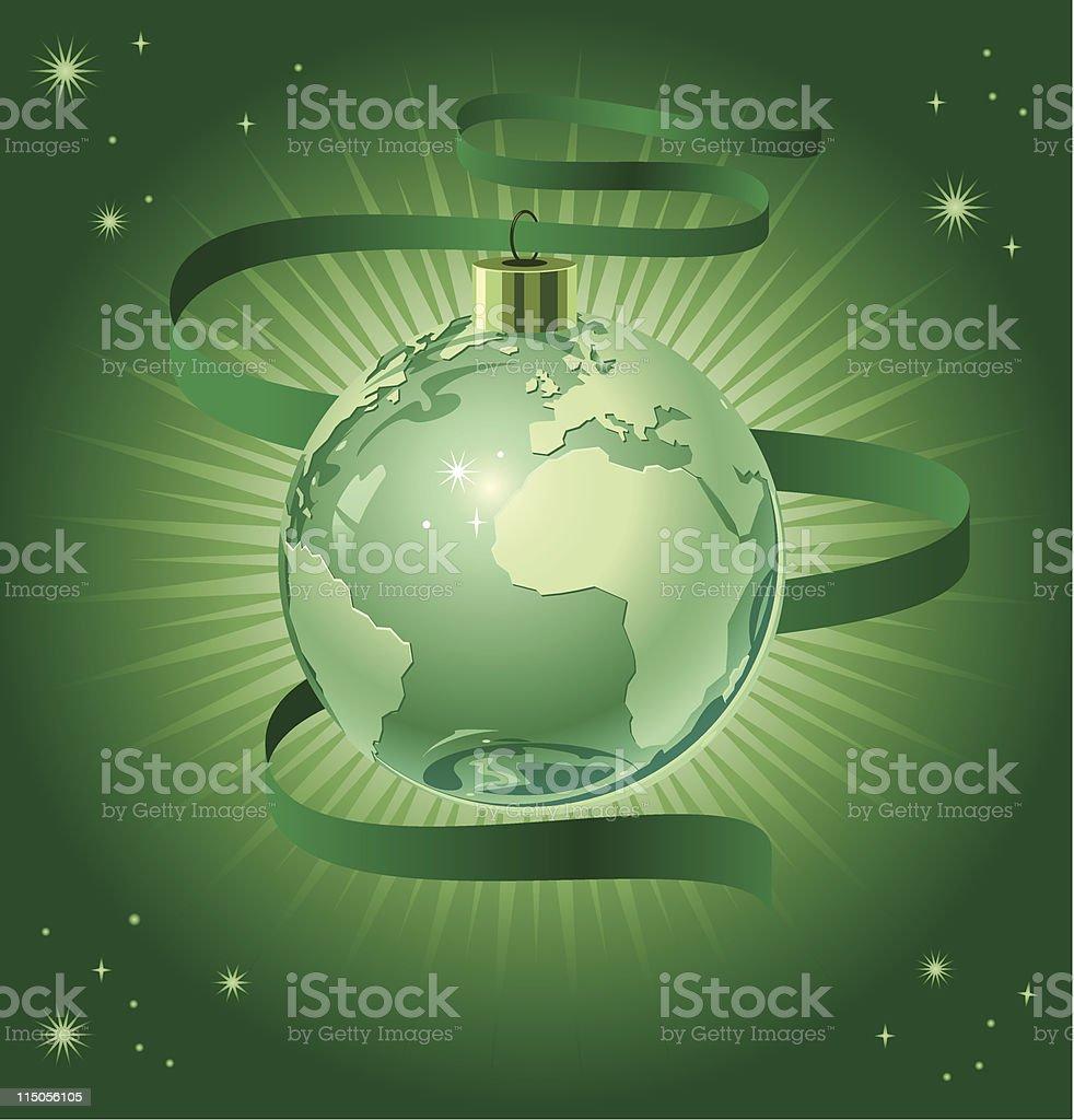 Green Earth Ornament royalty-free stock vector art
