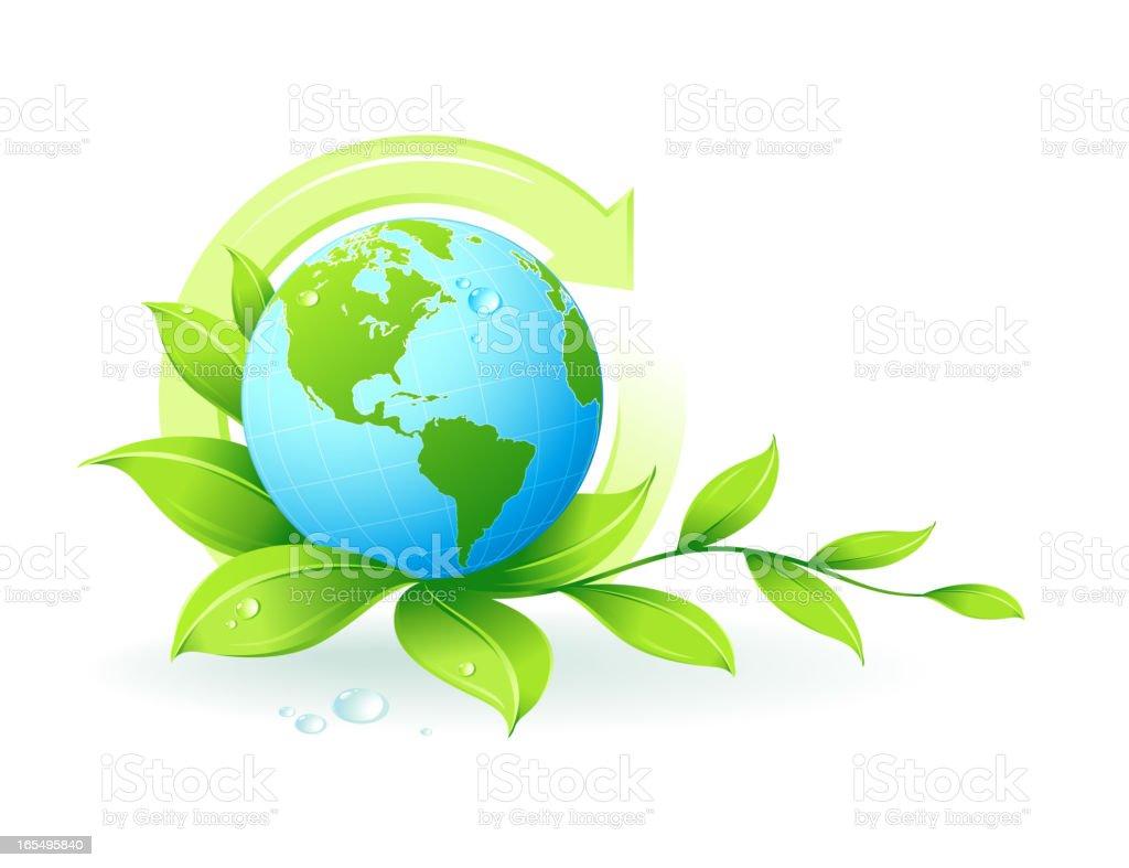 Green earth royalty-free stock vector art