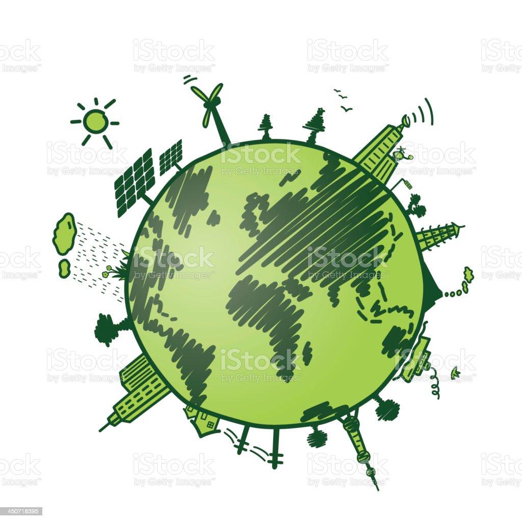green earth vector art illustration