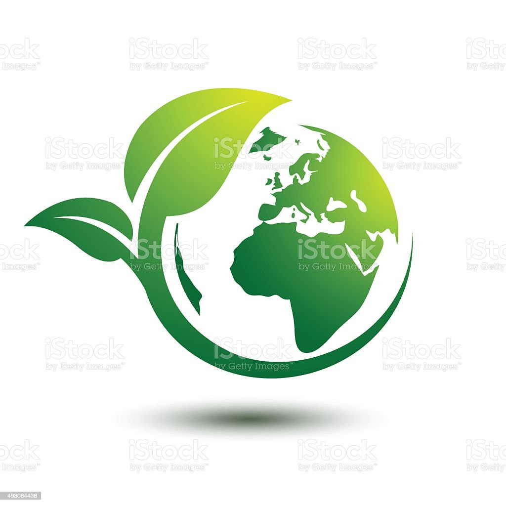 Green earth vector art illustration