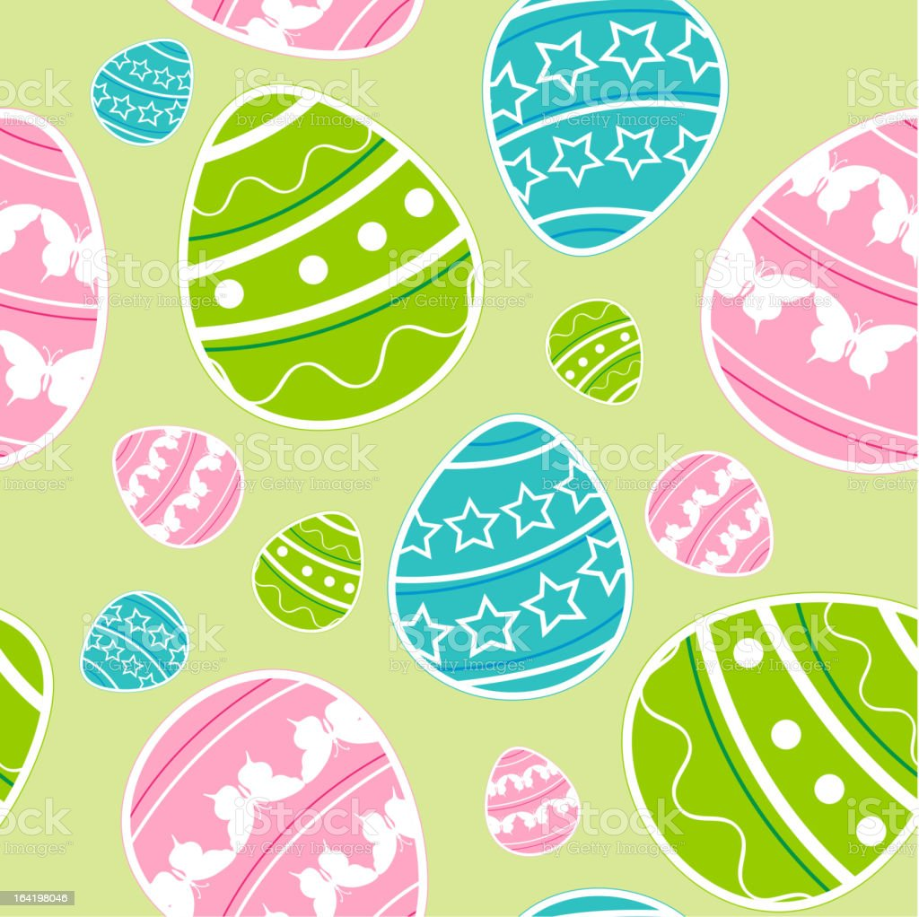 Green Easter seamless pattern royalty-free stock vector art