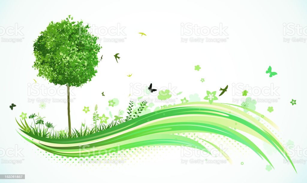 Green eco Background royalty-free stock vector art