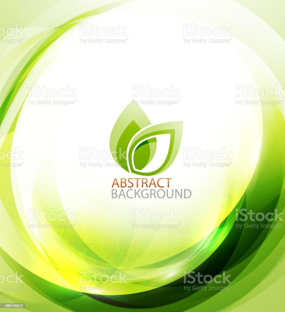 Green eco energy background vector art illustration