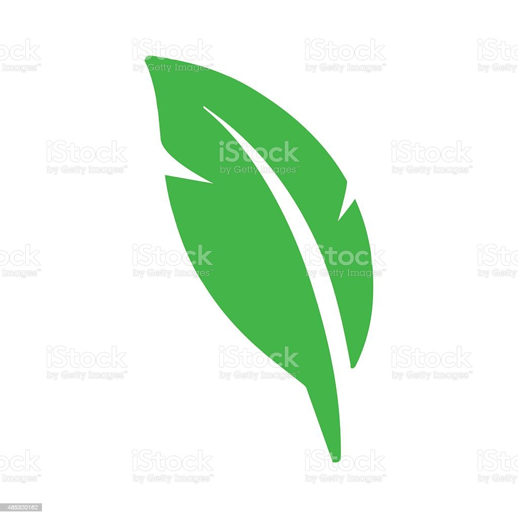 Green eco leaf symbol icon vector art illustration