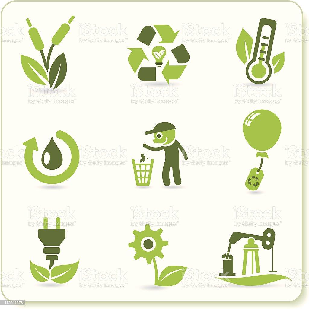 Green Eco Symbols royalty-free stock vector art