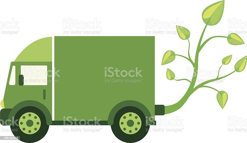 Green Eco Truck royalty-free stock vector art