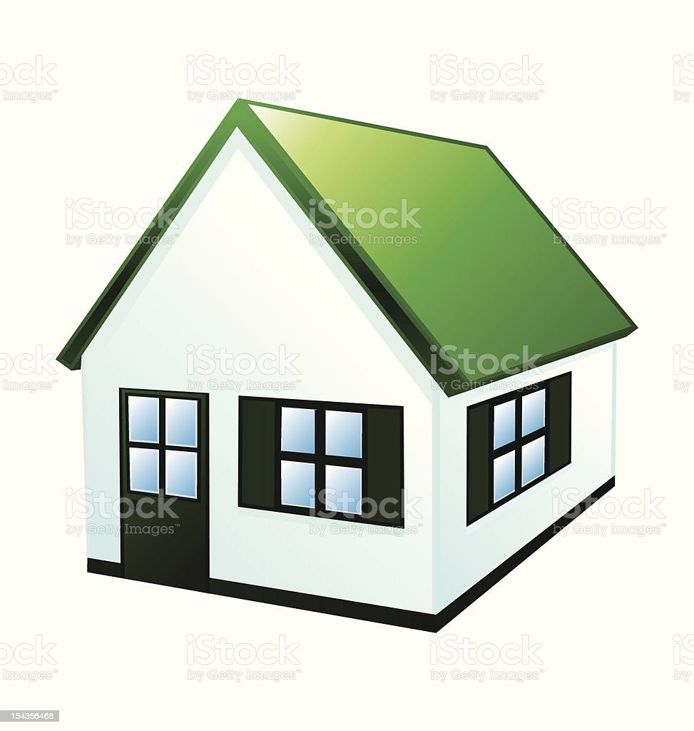 Green ecological house royalty-free stock vector art