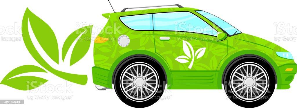 green ecology car royalty-free stock vector art