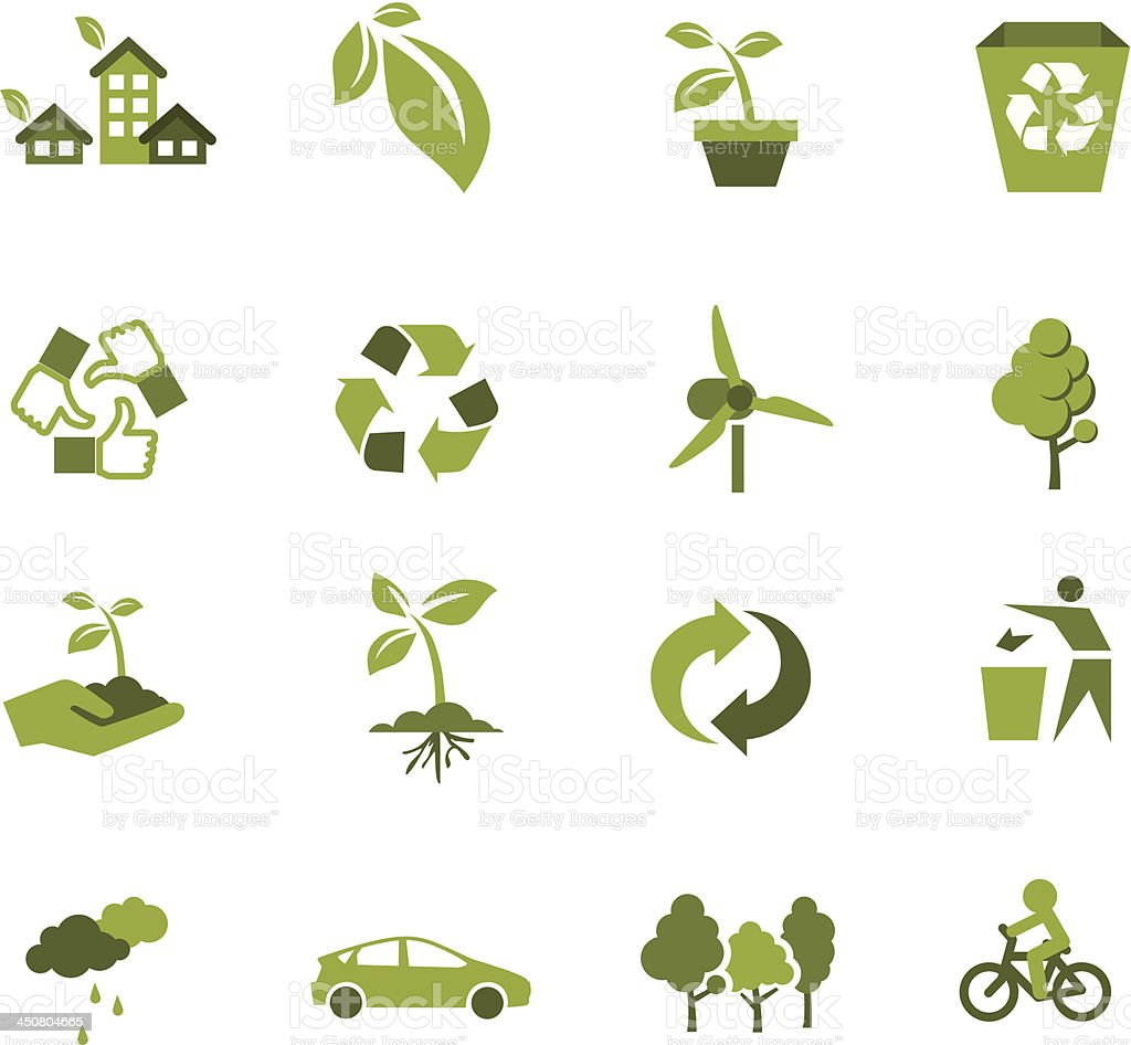 Green Ecology icon royalty-free stock vector art