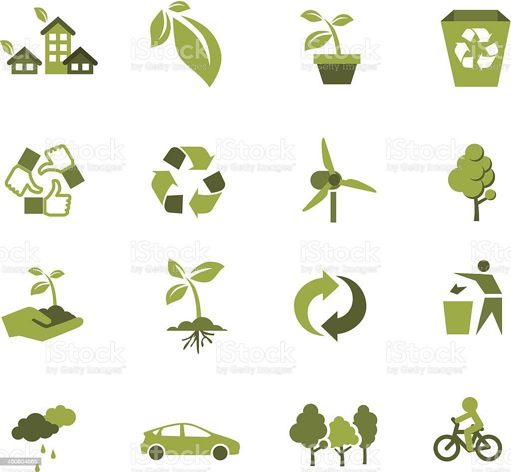 Green Ecology icon vector art illustration