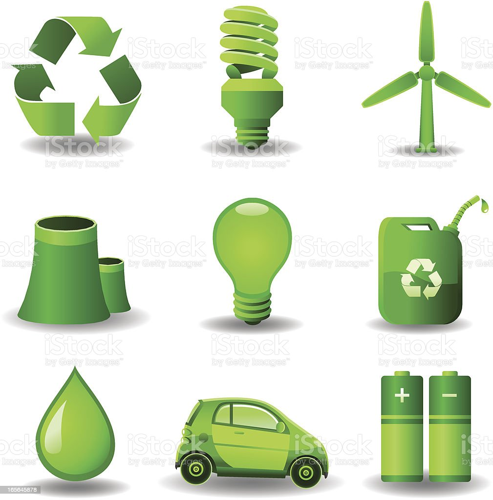 Green Ecology Set royalty-free stock vector art