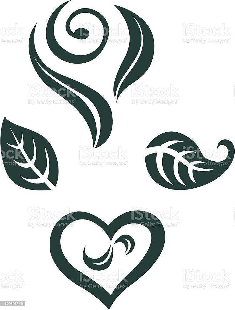 Green Elements royalty-free stock vector art