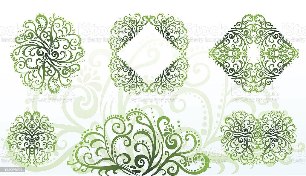Grün-Elemente Lizenzfreies vektor illustration