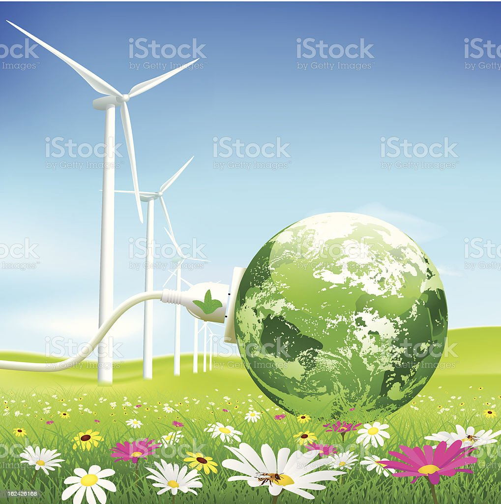 Green energy concept royalty-free stock vector art