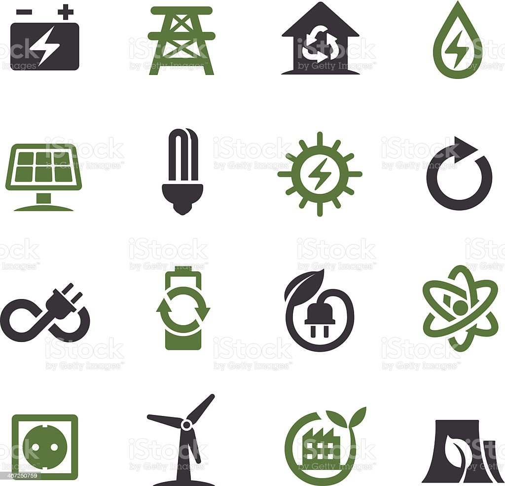 Green Energy Icons - Acme Series vector art illustration
