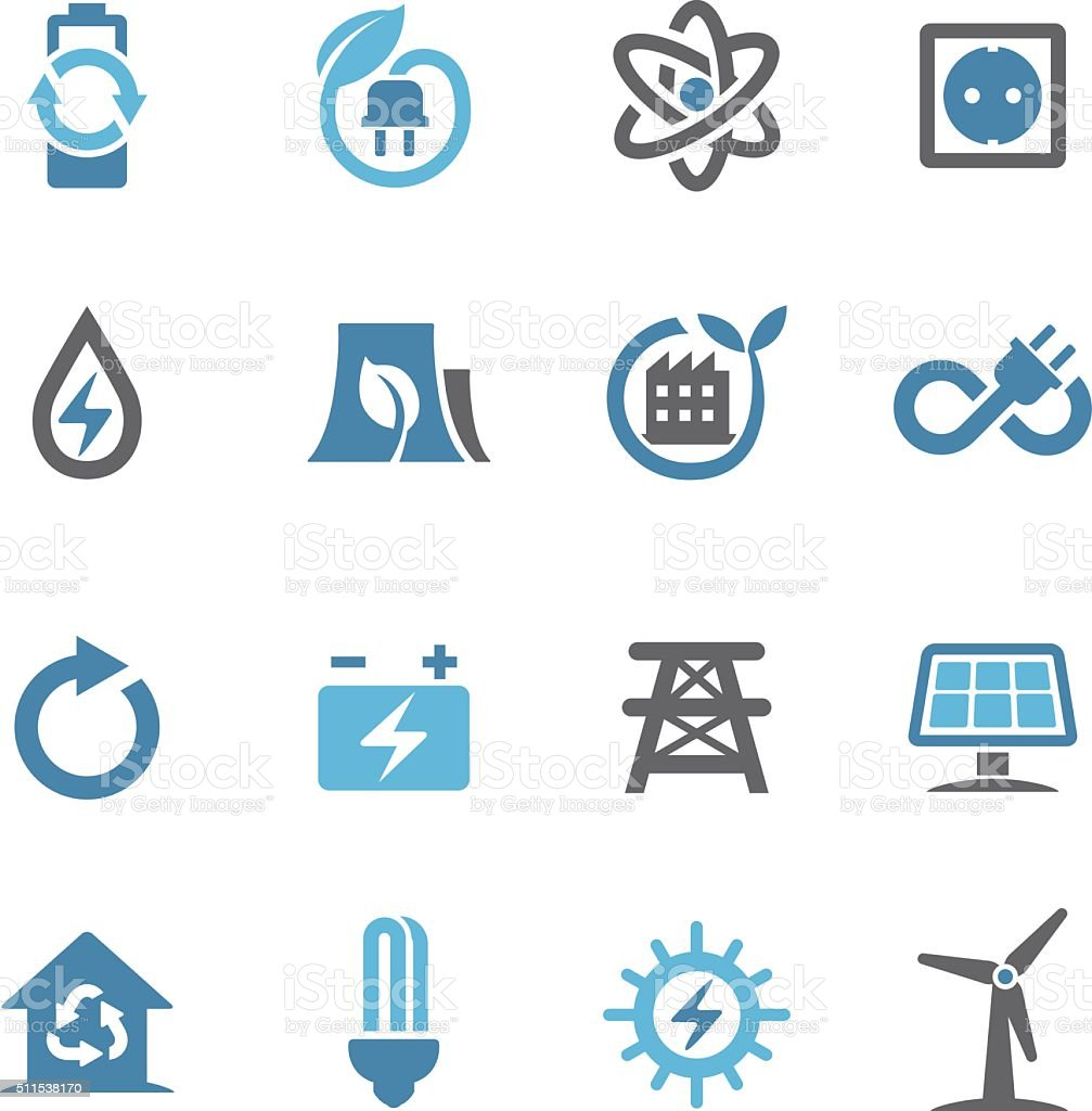 Green Energy Icons - Conc Series vector art illustration